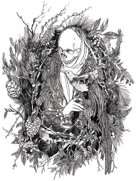 Death illustrateded by David V. D'Andrea
