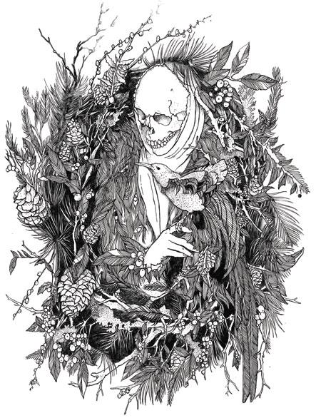 Death illustrateded by David V. D'Andrea